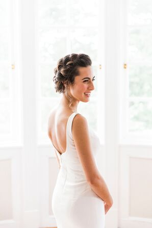 Open-Back Dress with Braided Updo