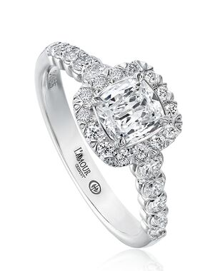Christopher Designs Elegant Cushion Cut Engagement Ring