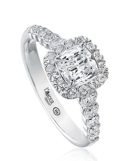 Christopher Designs Elegant Cushion Cut Engagement Ring