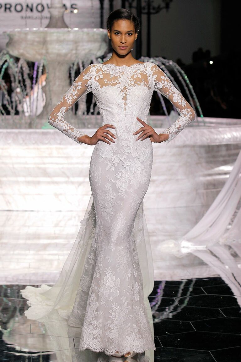 9bf2dd94ee0 Atelier Pronovias Spring 2018 Collection  Bridal Fashion Week Photos