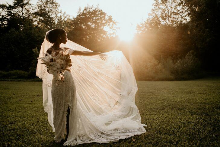 Sunset Bridal Portraits in North Carolina