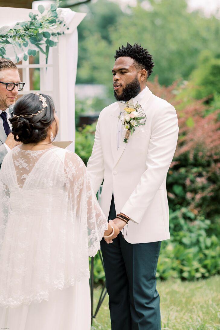 Backyard Wedding Ceremony in Cherry Hill, New Jersey
