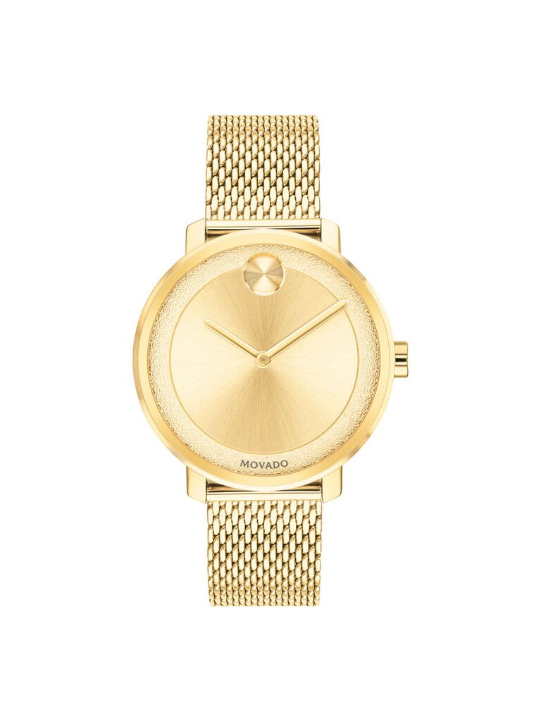 Movado gold watch 15-year anniversary gift