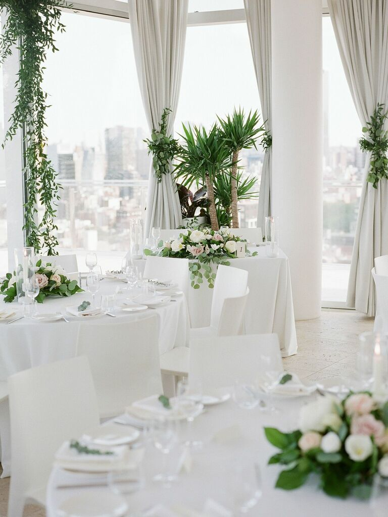 most popular wedding colors all-white reception