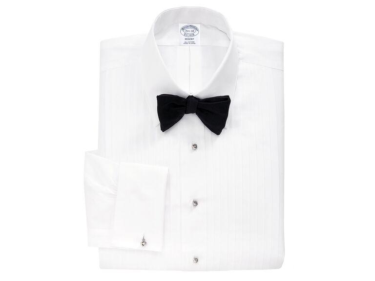 Regent Fit ten-pleat tennis collar tuxedo shirt
