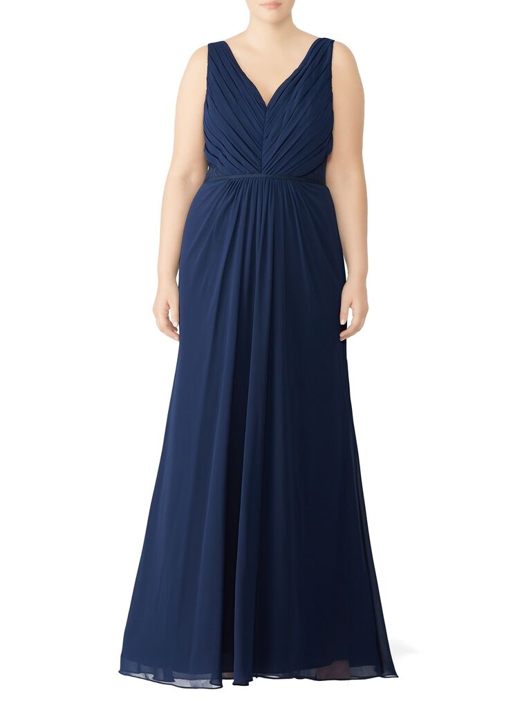Navy blue bridesmaid dress under $100