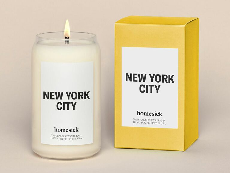New York City candle gift for fiance