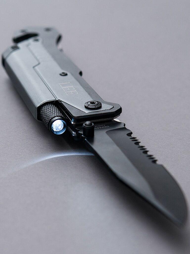 Custom pocket knife groomsmen proposal gift
