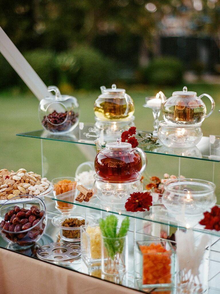 wedding drink ideas tea bar