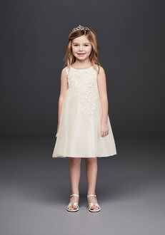 David's Bridal Flower Girl WG1388 Ivory Flower Girl Dress