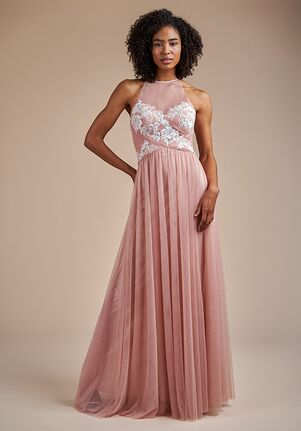 Belsoie Bridesmaids by Jasmine L224057 Halter Bridesmaid Dress