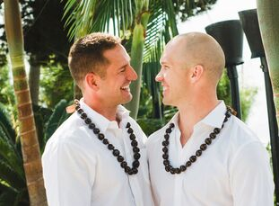 Hawaii was brought to California through this tropical wedding at Bali Hai Restaurant near the San Diego waterfront, with beautiful views of the downt