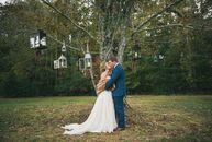 The wedding of Kelley Haughton (a catering sales manager at Bold American Events) and Dan Bowden (a financial analyst at UPS) was over a decade in the