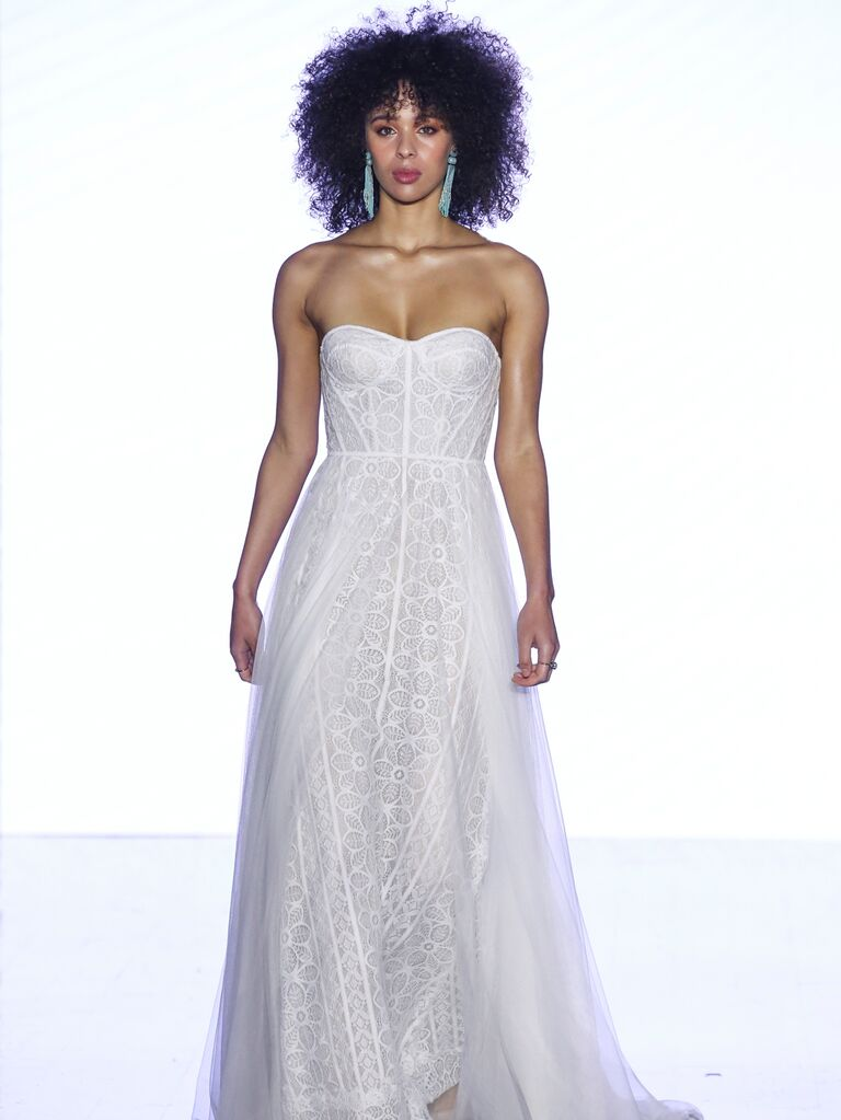 Willowby by Watters Fall 2019 Bridal Collection strapless lace wedding dress