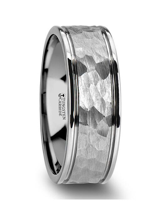 Mens Tungsten Wedding Bands W2049-DGHF Tungsten Wedding Ring