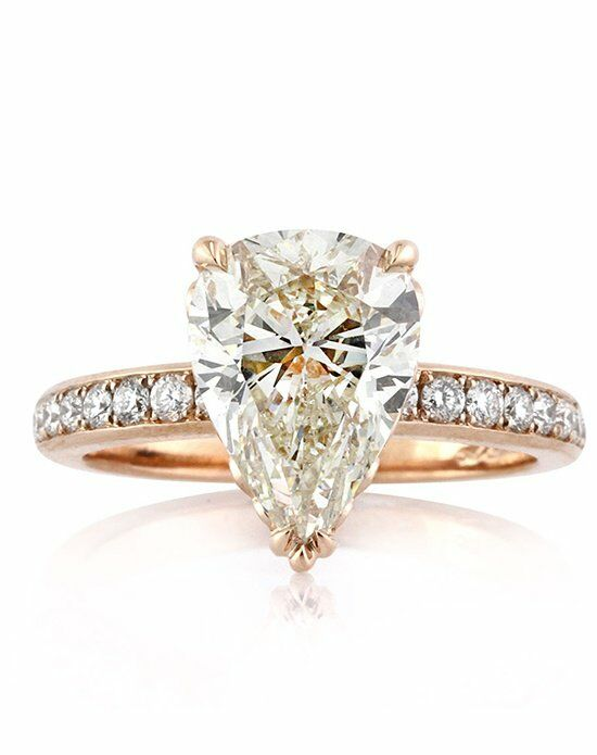 Mark Broumand 3.52ct Pear Shaped Diamond Engagement Ring ...