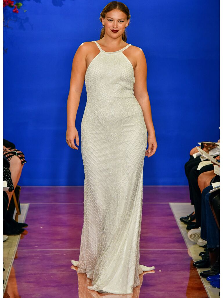 theia wedding dress halter dress