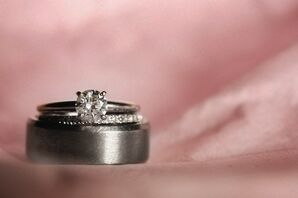 Classic Platinum Engagement and Wedding Rings