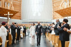 Wedding Recessional at The Cathedral of Christ the Light in Oakland, California