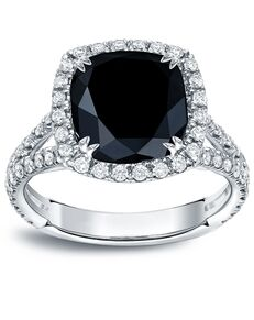 DiamondWish.com Unique Cushion Cut Engagement Ring
