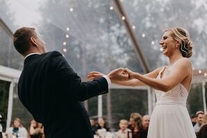 Romantic First Dance at Hidden Pond in Kennebunkport, Maine