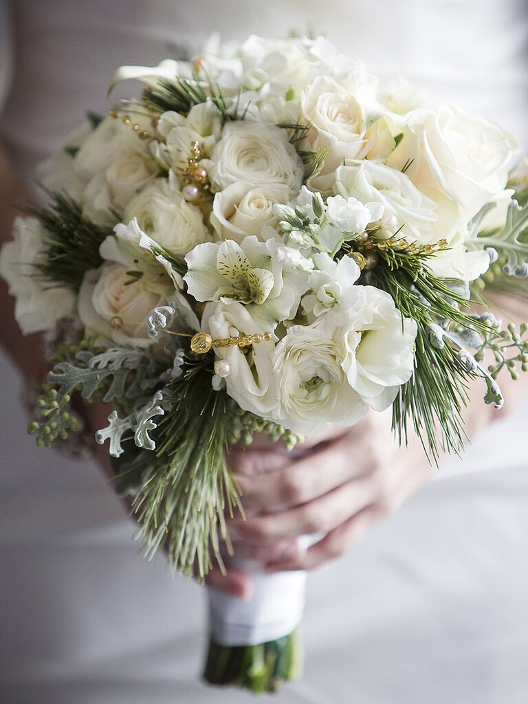 White Winter Wedding Bouquet