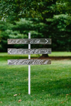Painted Wooden Direction Signs