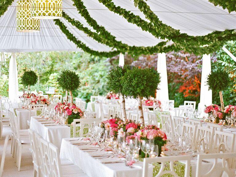 garden preppy wedding reception