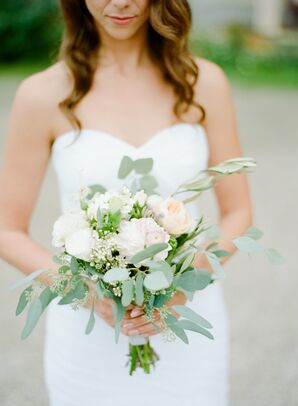 Romantic Pastel and White Bouquet With Greenery