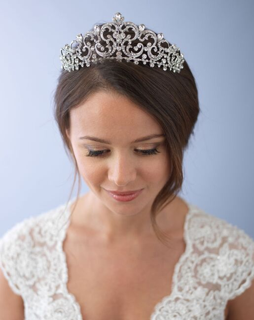 Dareth Colburn Florentina Royal Crown (TI-3284) Silver Tiara