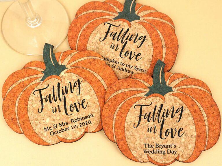 fall pumpkin coaster