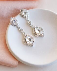 Dareth Colburn Leia Crystal Drop Earrings (JE-4188) Wedding Earring photo