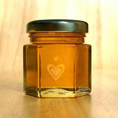E+M Wedding Favors - Natural Honey Favors