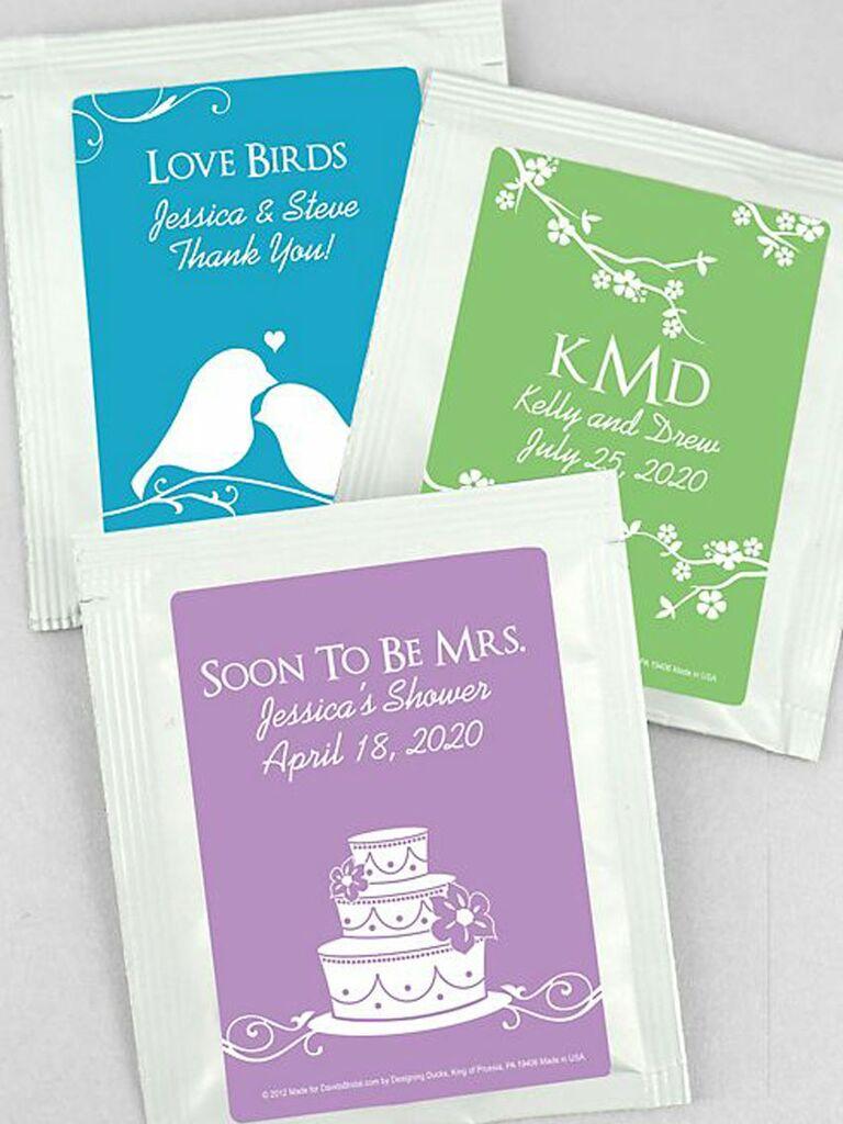 personalized wedding tea favors