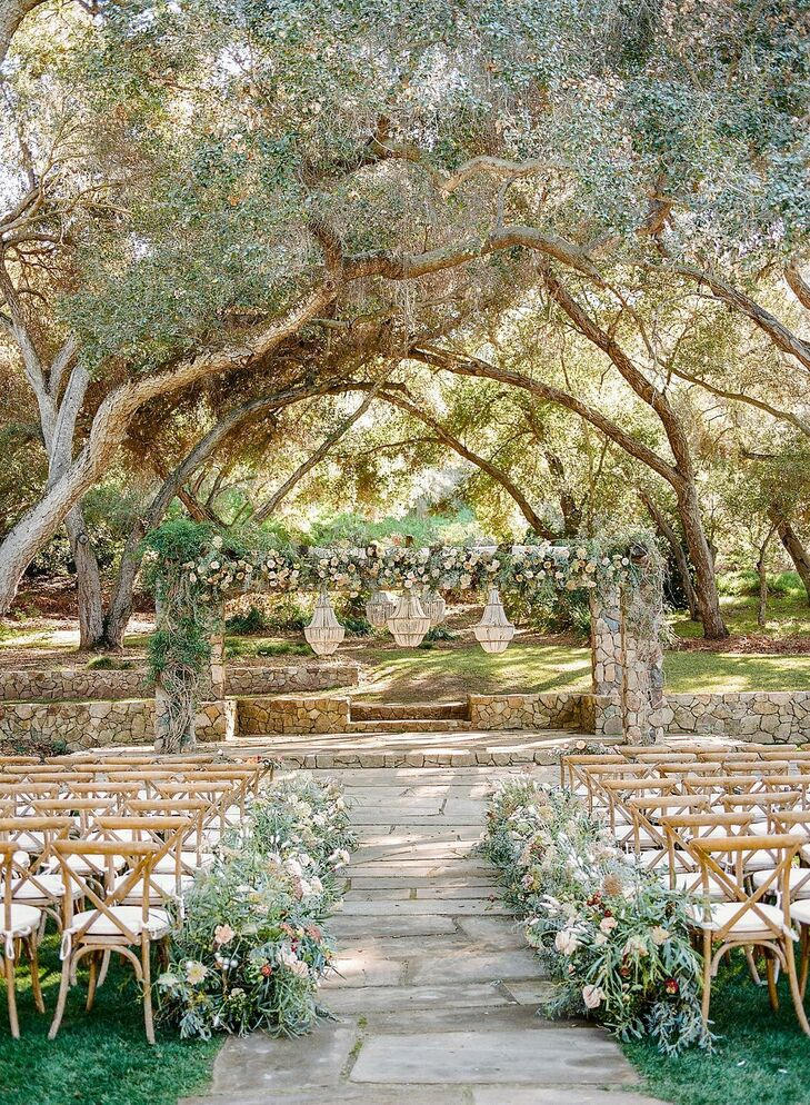 Rustic Ceremony Under Trees at Vista Valley Country Club in California