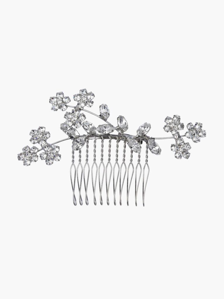 wedding hair pieces silver comb