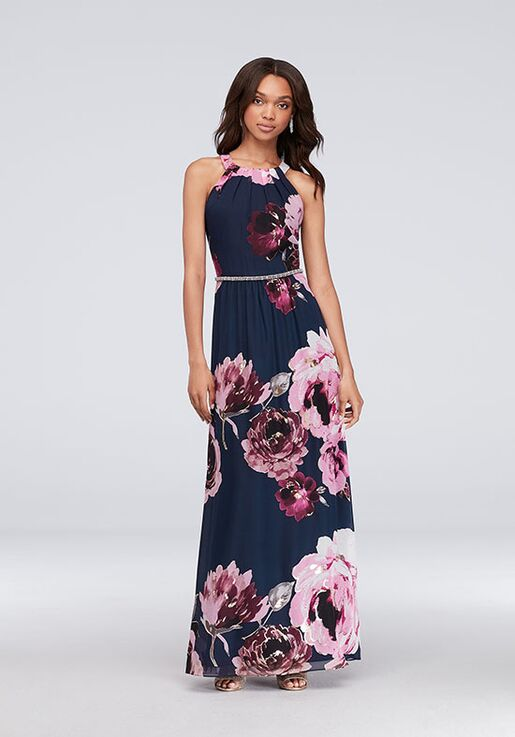 David's Bridal Mother of the Bride SLNY Style 9171244 Blue Mother Of The Bride Dress
