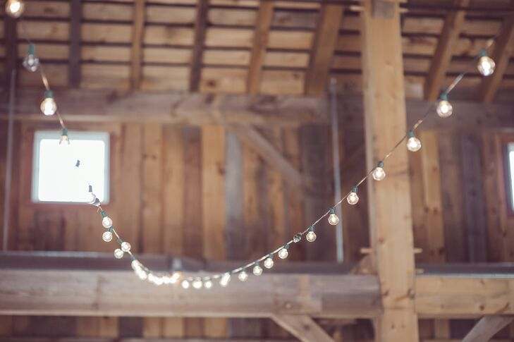 """We wanted to have a unique wedding venue with a rustic, elegant feel,"" Meg explains. ""The County Line Orchard definitely fit the bill."""