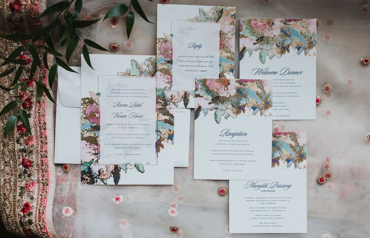 Elegant Floral Invitation Suite