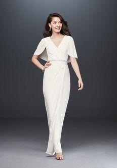 David's Bridal Adrianna Papell Style AP1E205551 Sheath Wedding Dress