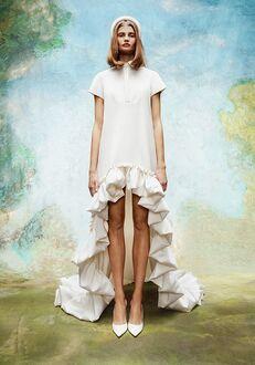 Viktor&Rolf Mariage DRAMATIC HIGH-LOW SHIRT DRESS A-Line Wedding Dress