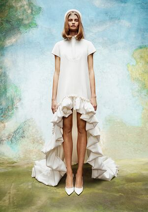 Viktor&Rolf Mariage DRAMATIC HIGH-LOW SHIRT DRESS A-Line Wedding Dress