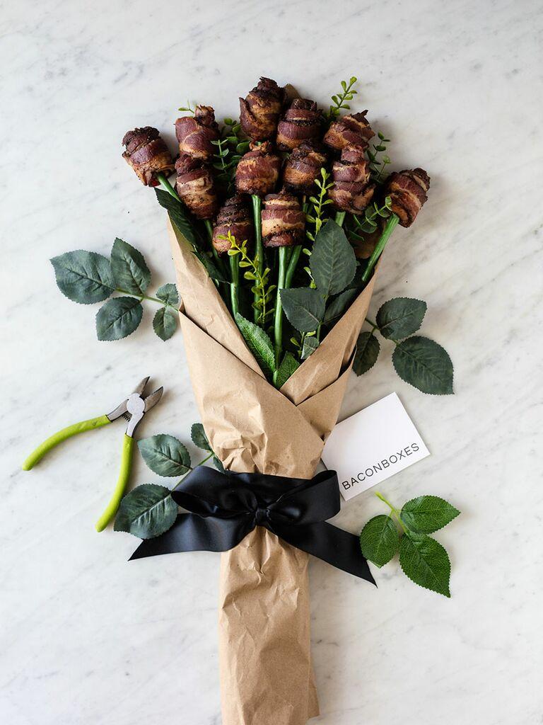 Bacon bouquet gift idea from Bacon Boxes