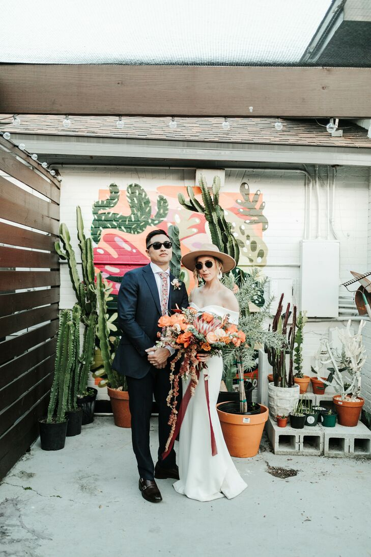 Boho Couple Portraits at Fancy Free Nursery in Tampa, Florida