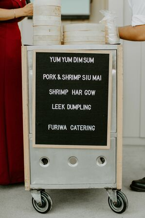 Letterboard Sign for Cocktail Hour Dim Sum Menu