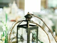 Rustic fall lantern centerpieces