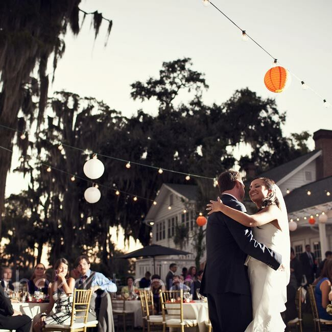 """One of the groomsmen sang the couple's first-dance song, """"What You Won't Do for Love."""""""