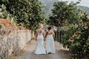 Brides in a Spanish Vineyard