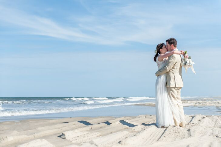 A Natural Beach Wedding At Private