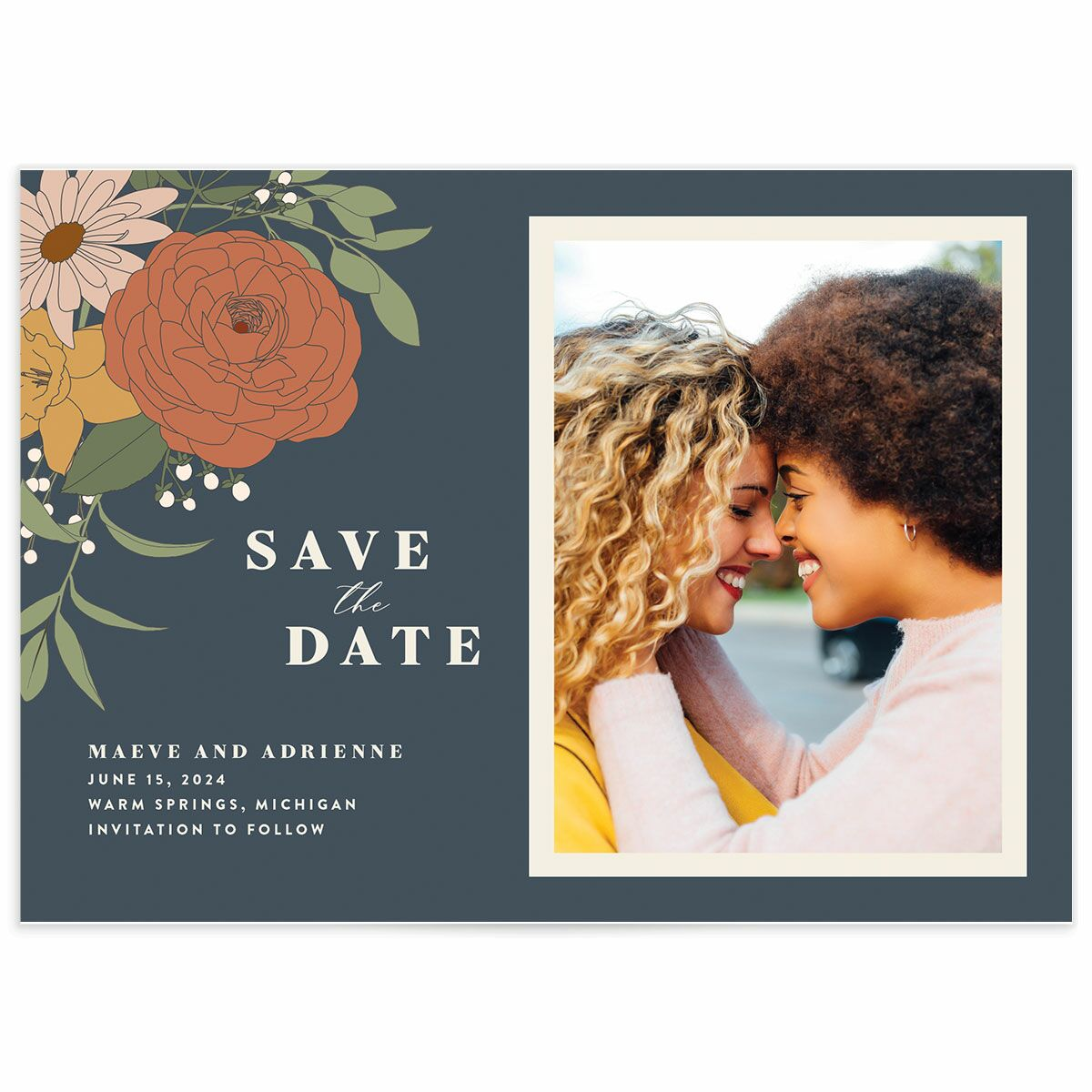 A Save the Date from the Retro Botanical Collection